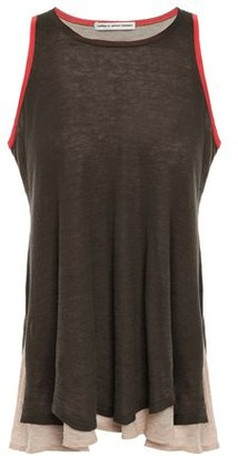 Autumn Cashmere Cotton By Layered Color-block Cotton-jersey Tank