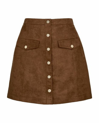 Ted Baker Mizzar Suedette Button Front Skirt
