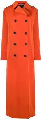 Gianfranco Ferré Pre Owned 2000s Double-Breasted Maxi Coat