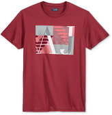 Armani Jeans Men's AJ Square Graphic-Print Logo T-Shirt