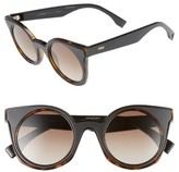 Fendi Women's 48Mm Cat Eye Sunglasses - Havana/ Black
