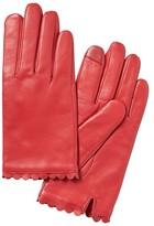 Banana Republic Scallop-Edge Leather Gloves
