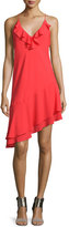 Amanda Uprichard Anastasia Sleeveless Ruffle Dress, Candy Apple