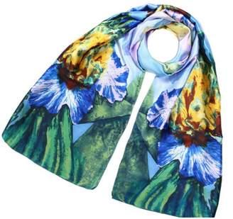 Violet Del Mar Silk Floral Scarf