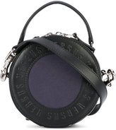 Versus round logo clutch - women - Leather/Canvas - One Size