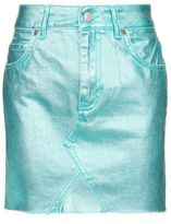 Topshop Moto aqua metallic mini skirt