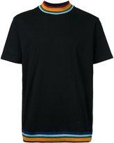 Palm Angels rainbow trim T-shirt - men - Cotton - XS