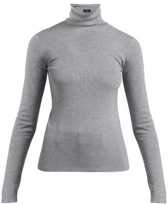 Joseph Roll-neck Fine-knit Sweater - Womens - Grey