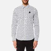 Versace Men's Printed Long Sleeve Shirt White/Black