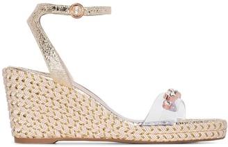 Sophia Webster Dina 90 espadrille wedge sandals