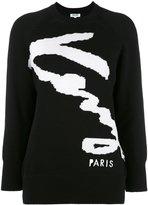 Kenzo signature jumper - women - Cotton/Polyamide - XS