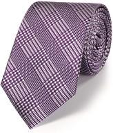 Charles Tyrwhitt Purple silk classic Prince of Wales check tie