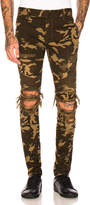 Balmain Camouflage Destroyed Jeans