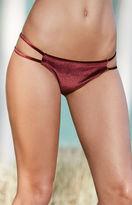 La Hearts Velvet Strappy Side Cheeky Bikini Bottom