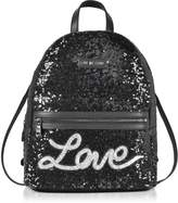 Love Moschino Love Sequins Metallic Black Backpack
