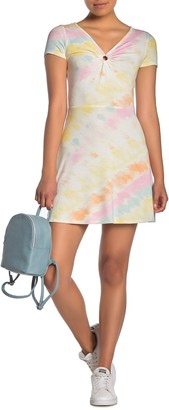 Love, Fire Double V Short Sleeve Dress