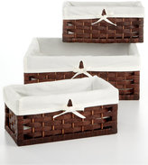 Household Essentials Storage Baskets, Set of 3 Paper Rope Utility