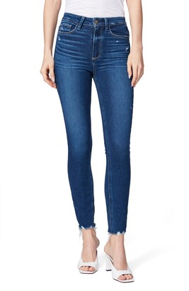 Paige Transcend Margot High Waist Ankle Skinny Jeans