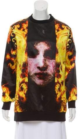Givenchy Madonna In Flames Oversize Sweatshirt