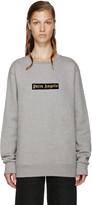 Palm Angels Grey Logo Sweatshirt