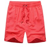 UTOVME Mens Running Volley Surf Swim Beach Board Shorts, Solid Color