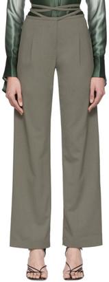 CHRISTOPHER ESBER Khaki Wide-Leg Trousers