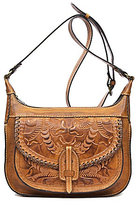Patricia Nash Burnished Tooled Collection Camila Square Hobo Bag