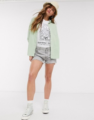 Wrangler denim shorts in grey