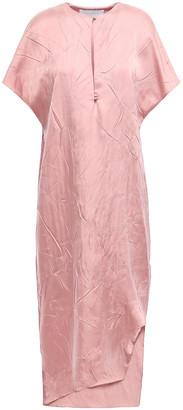 Esteban Cortazar Asymmetric Crinkled-sateen Midi Dress