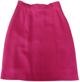 Saint Laurent Pink Wool Skirt for Women Vintage