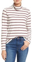 Madewell Women's Whisper Cotton Stripe Turtleneck Top