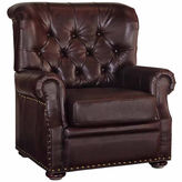 Asstd National Brand Melissa Chair Faux Leather Roll-Arm Chair