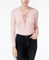 GUESS Lola Long-Sleeve Lace-Up Bodysuit