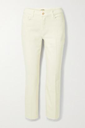 L'Agence Sada Cropped High-rise Slim-leg Jeans - Ivory