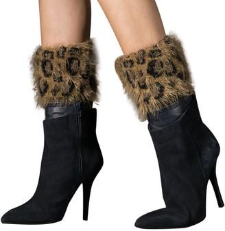 Leedy Socks Clearance Sale! Women Winter Warm Short-Flip Leopard Feather Gauze Boot Socks Wool Thermal Warm Knitting Ladies Socks for Winter by LEEDY