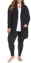 Barefoot Dreams Plus Size Women's Cozychic Lite Coastal Hooded Cardigan