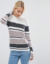 Asos Sweater With Crew Neck In Stripe in Soft Yarn