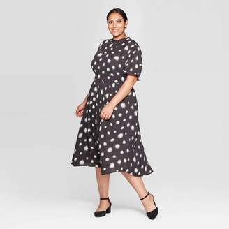 Who What Wear Women's Plus Size Short Sleeve Crewneck Midi Dress - Who What WearTM