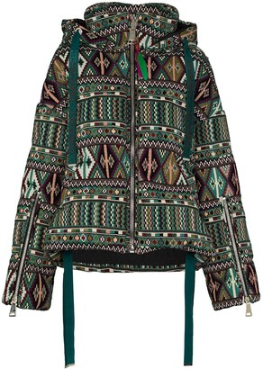 KHRISJOY Khris geometric-print down padded jacket