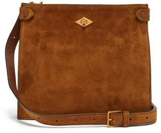 Metier - Stowaway Suede Cross-body Bag - Womens - Tan