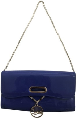 Christian Louboutin Riviera Blue Patent leather Clutch bags