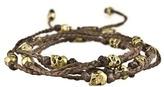 M. Cohen Braided Brass Skull Bracelet