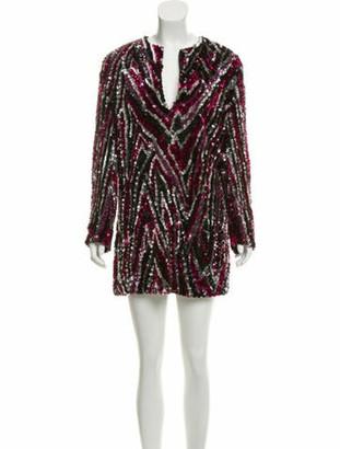 Tom Ford Sequin Mini Dress Purple