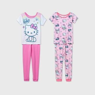 Hello Kitty Toddler Girls' 4pc Pajama Set -
