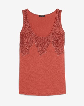 Express Lace Trim Tank