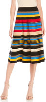 Tracy Reese Stripe Midi Skirt