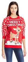 Freeze women's Rednose Reindeer All Over Printed Ugly Christmas Sweater