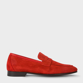 Paul Smith Men's Red Suede 'Glynn' Penny Loafers