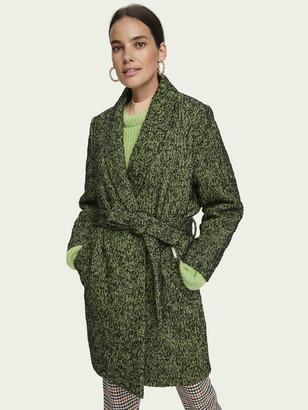 Scotch & Soda Textured wool-blend wrap coat   Women