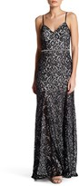 Sequin Hearts Open Back Lace Gown